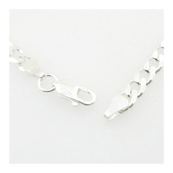 Mens 925 Sterling Silver curb chain fran 78311 4