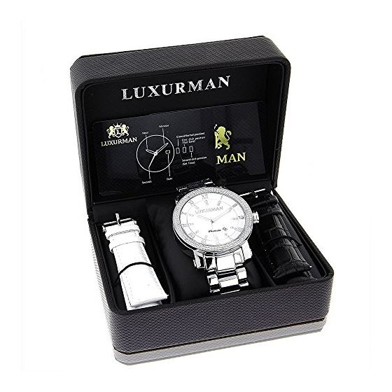 Luxurman Diamond Watches White Mother of 90170 4