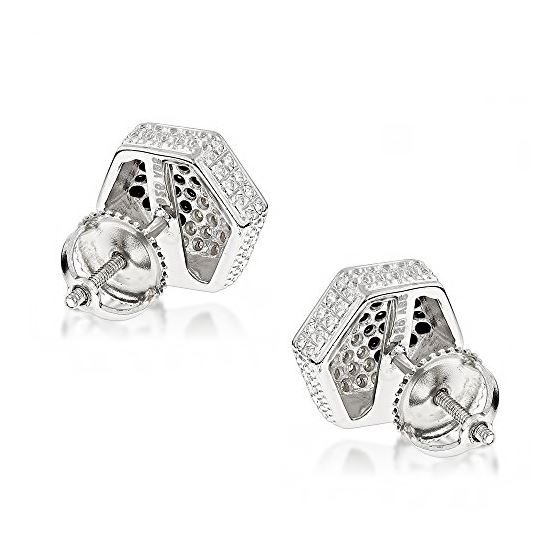 Yellow Black Diamond Earrings Sterling S 84761 2