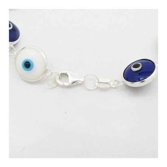 Womens Sterling silver White and blue ev 84604 2