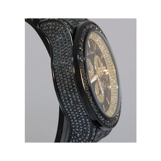 Joe Rodeo Watches Mens Black Diamond Watch Pilot 27.70 2