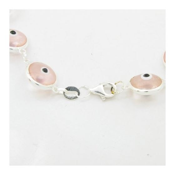 Womens Sterling silver Pink evil eye bra 84511 2