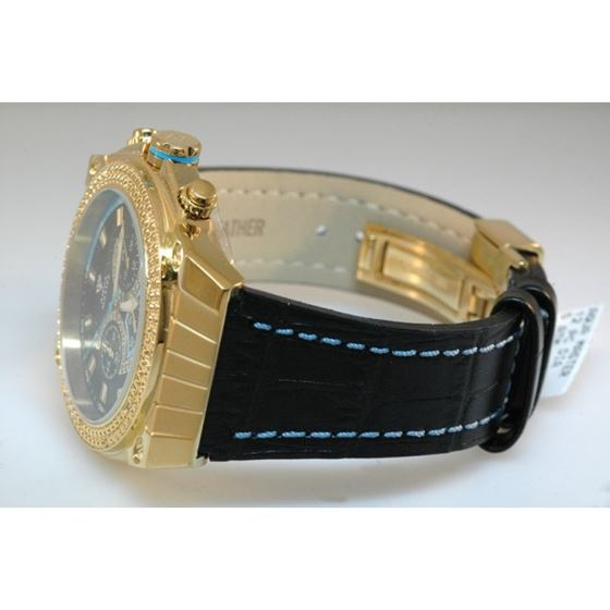 Aqua Master Yellow Gold Mens Diamond Wat 54592 2