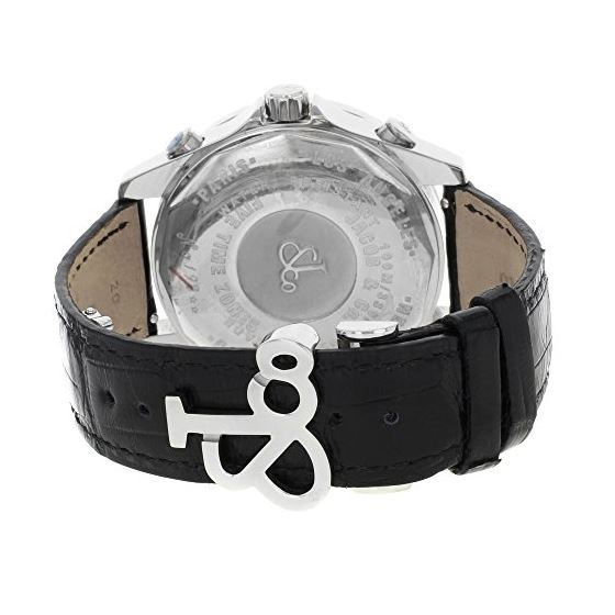 Jacob Co. Black Band Five Time Zone Skull Dial 5-4