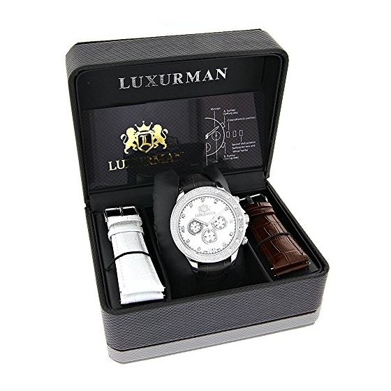 Luxurman Mens Diamond Watch 0.2ct Libert 90358 4