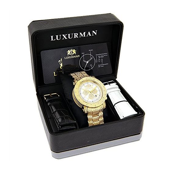 Luxurman Escalade Large Iced Out Mens Di 90185 4
