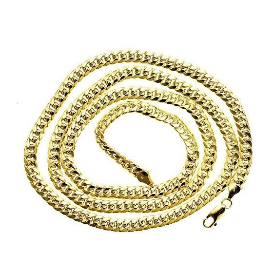 14K Yellow Gold SOLID Miami Cuban Link Chain 6.7-2