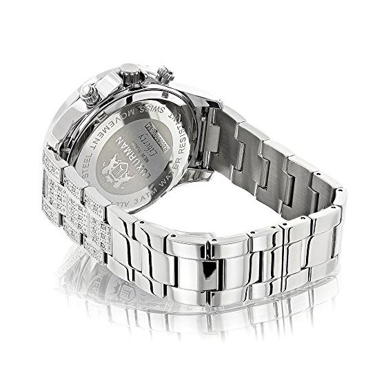 Diamond Bezel And Band Watch For Men 1Ctw Of Dia-2