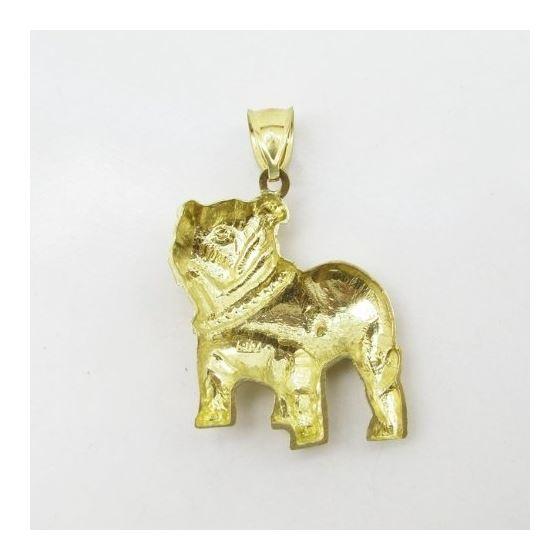 Mens 10k Yellow gold Bulldog charm EGP58 4