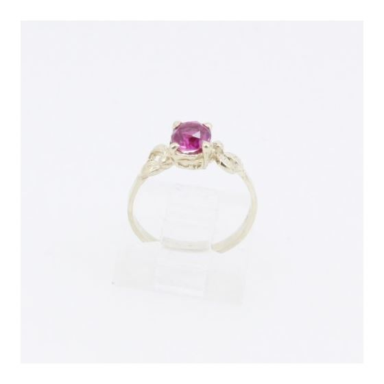 10k Yellow Gold Syntetic red gemstone ring ajr5 Size: 3.5 2