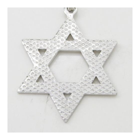 Star of david silver pendant SB57 44mm tall and 26mm wide 4