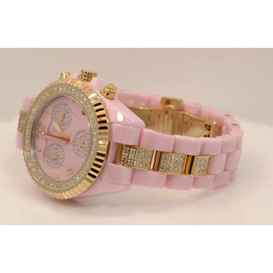 Aqua Master Ladies Ceramic Diamond Watch 3.00ctw W1154 2