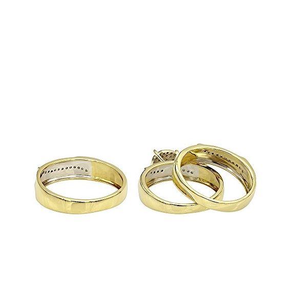 10K Gold Affordable Diamond Engagement Ring Wedd-2