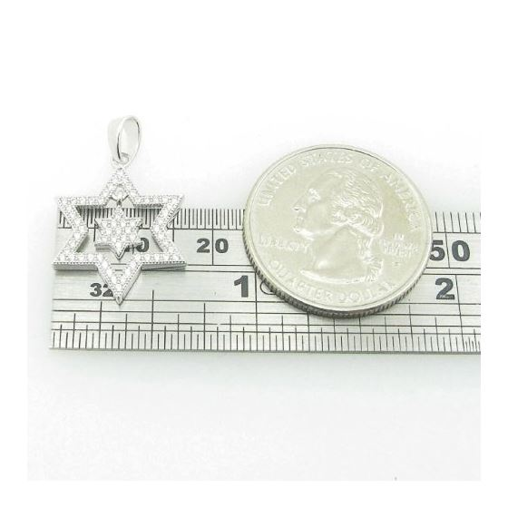 Ladies .925 Italian Sterling Silver star within star of david pendant Length - 26mm Width - 16.5mm 4