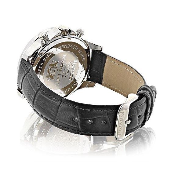 Luxurman Watches Black Diamond Watch 3ct 89583 2