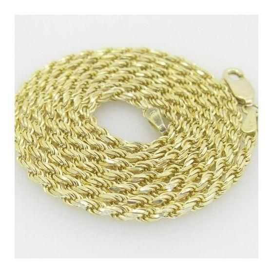10K Yellow Gold rope chain GC1 2