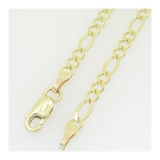 10K Yellow Gold figaro open link chain GC89 4