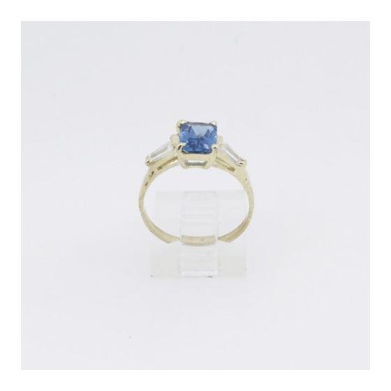 10k Yellow Gold Syntetic purple gemstone ring ajr36 Size: 7.5 2