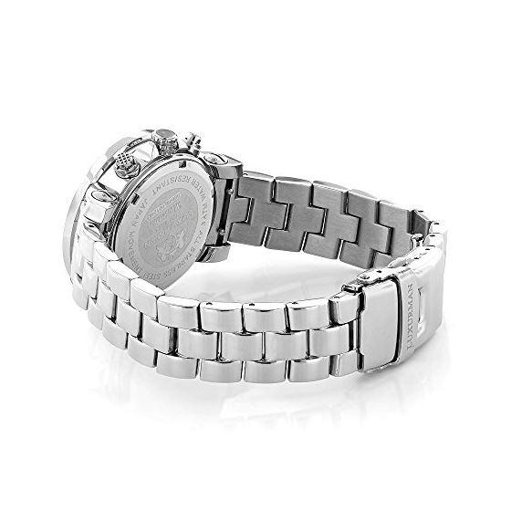 Ladies Diamond Watch Silver Tone 3ct Lux 89975 2