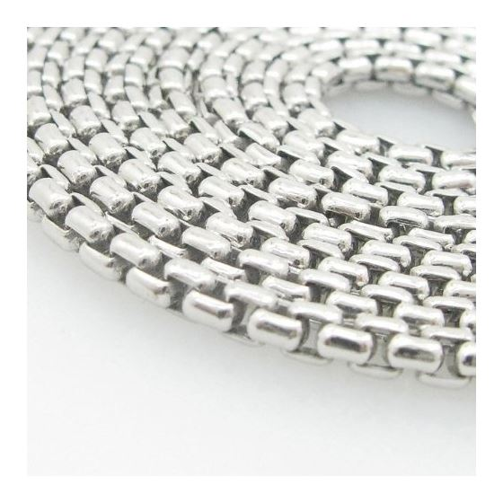 Mens .925 Italian Sterling Silver Box Link Chain Length - 36 inches Width - 3mm 2