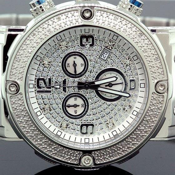 Aqua Master Mens Diamond Watch 0.20ct w-146b 2