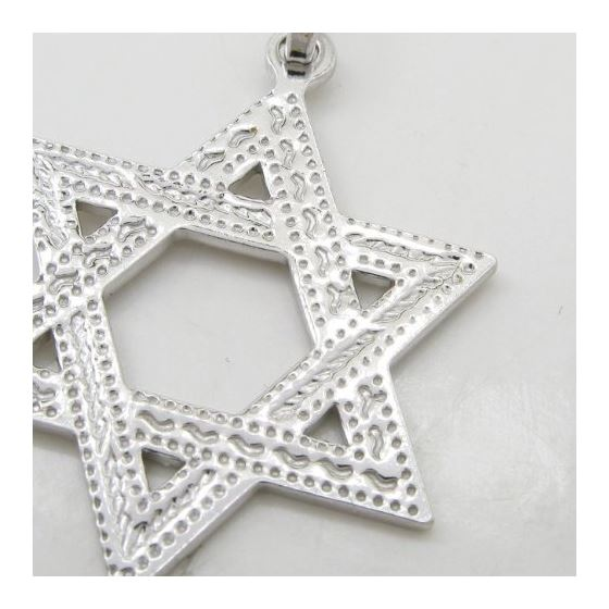 Star of david silver pendant SB57 44mm tall and 26mm wide 2