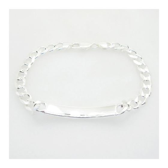 Curb Link ID Bracelet Necklace Length - 8.5 inches Width - 7.5mm 2