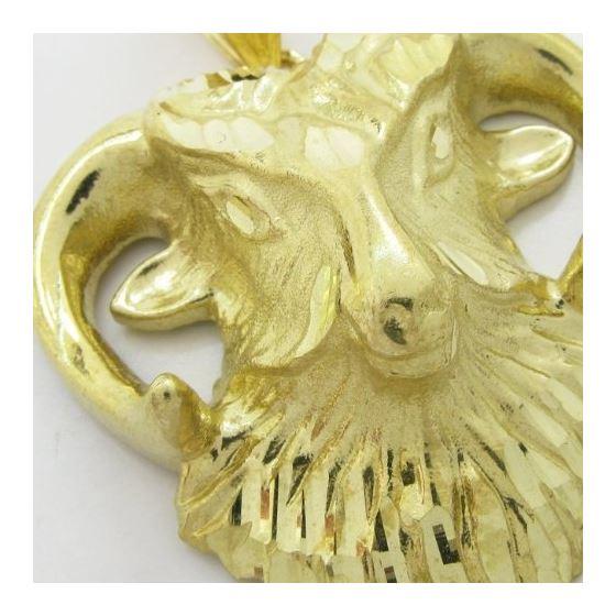 Mens 10k Yellow gold Goat head charm EGP23 2