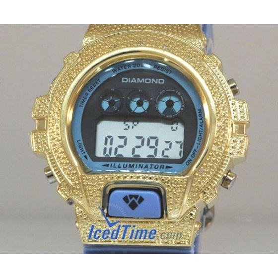 Aqua Master Shock Diamond Mens Yellow Wa 55515 2