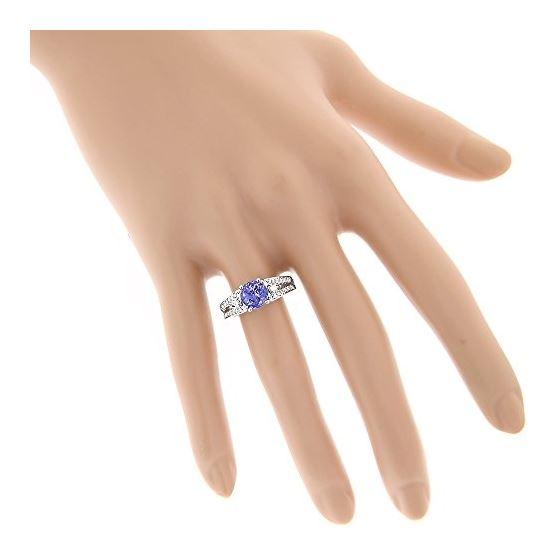 14K Natural Diamond Tanzanite Engagement Ring Fo-4