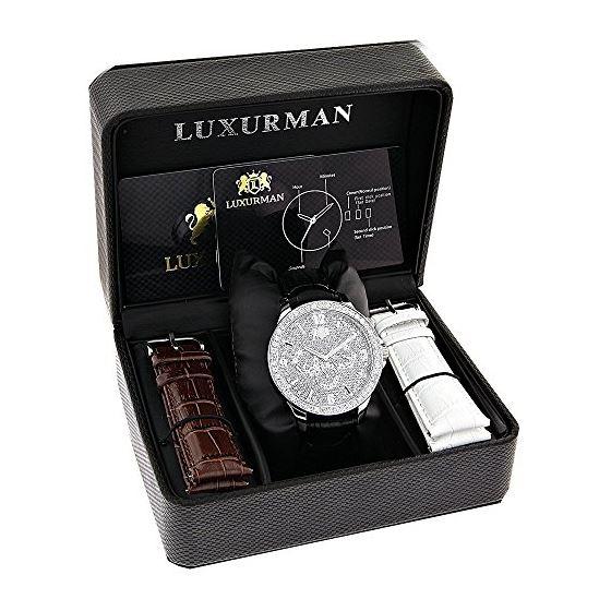 LUXURMAN Liberty 3 Carat Diamond Bezel Watch For-4