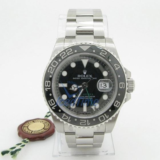Rolex GMT Master II Black Index Dial Oyster Bracelet Stainless Steel Mens Watch 2