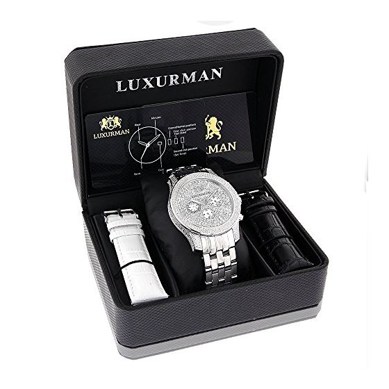 Luxurman Mens Watches Designer Diamond W 90443 4