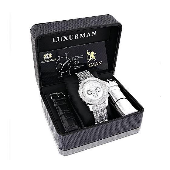 Luxurman Genuine Diamond Watch for Men 1 90393 4