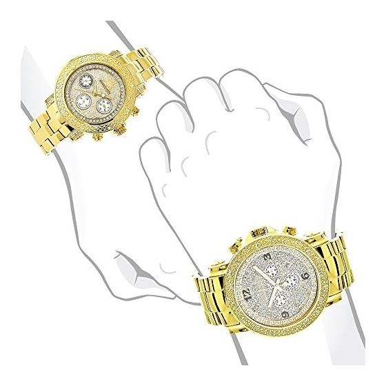 Large His And Hers Watches: Yellow Gold Plated D-4