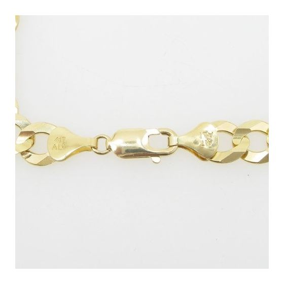 Mens 10k Yellow Gold figaro cuban mariner link bracelet AGMBRP24 9 inches long and 10mm wide 4