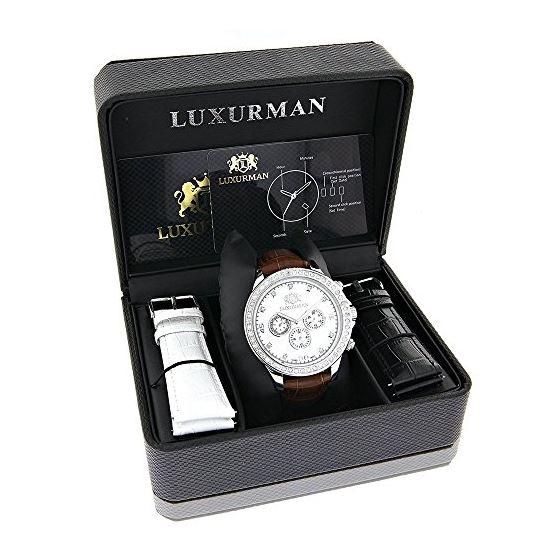 Diamond Watches For Men: Luxurman Libert 89756 4