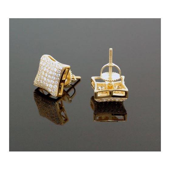 Sterling Silver Unisex Fashion Hand Set Stud Earrings ME0217b 2