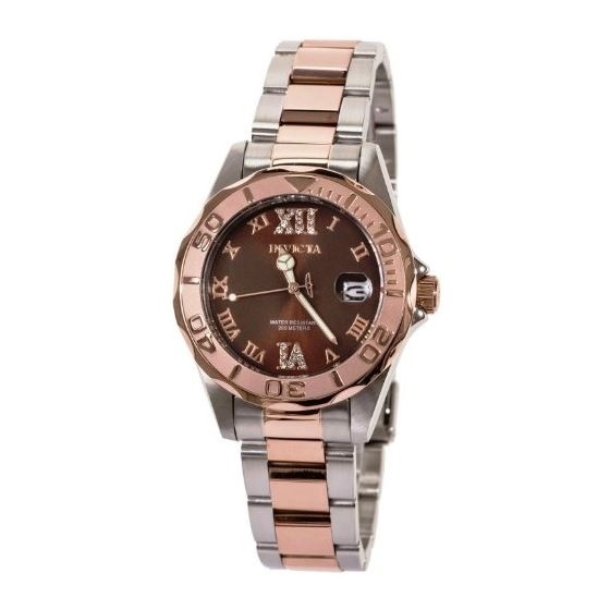 Women 13025 Pro Diver Brown Dial Quartz 3H Rose-2