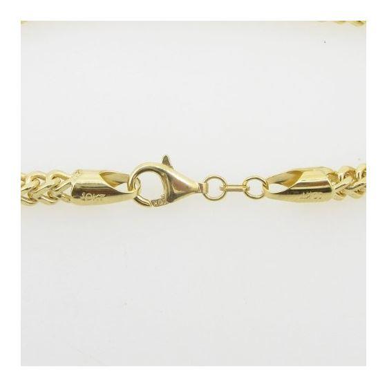 Mens 10K Yellow Gold Franco Bracelet AGMBRP42 8.-4