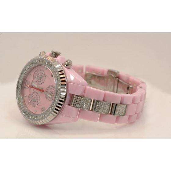 Aqua Master Ladies Ceramic Diamond Watch 53491 2