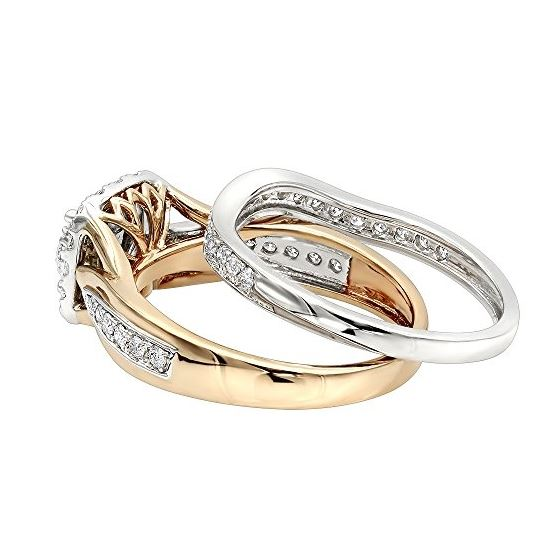 14K Two-Tone Gold Affordable Diamond Engagement-2