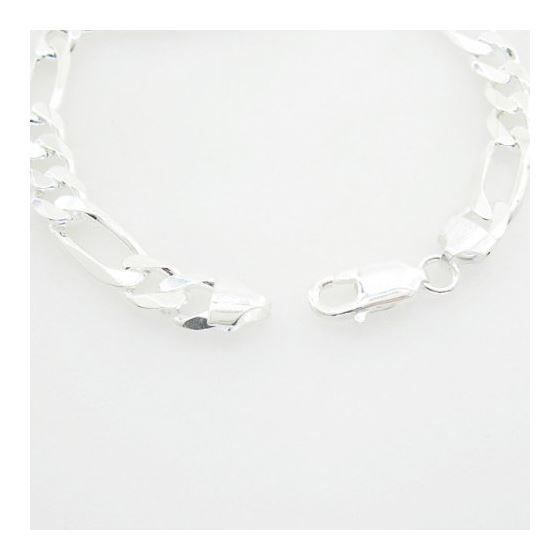 Figaro Link ID Bracelet Necklace Length - 8 inches Width - 8mm 2