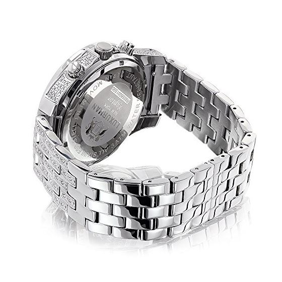 Luxurman Genuine Diamond Watch 1.25ct Wh 90451 2