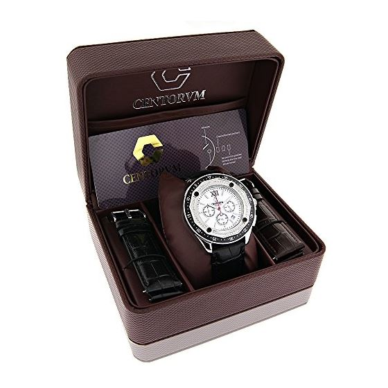 Centorum Flacon Mens Real Diamond Watch  90875 4
