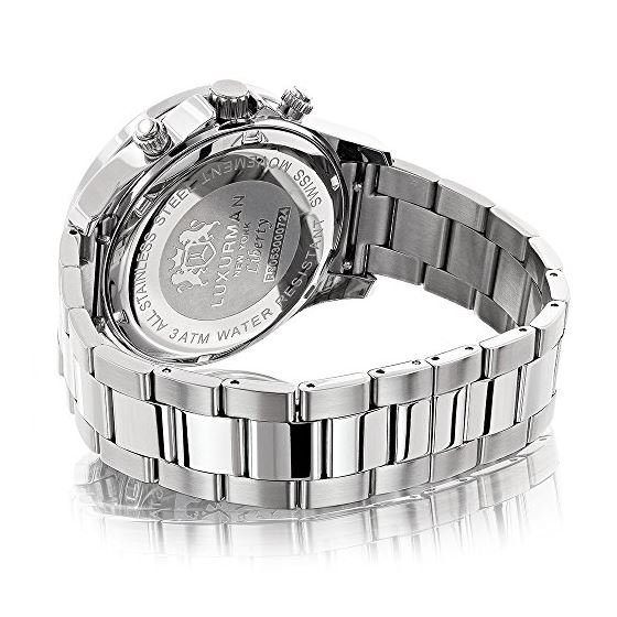 Genuine Diamond Watches For Men: 2Ct LUXURMAN Li-2