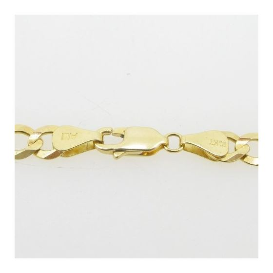 Mens 10k Yellow Gold figaro cuban mariner link bracelet AGMBRP27 8 inches long and 6mm wide 4