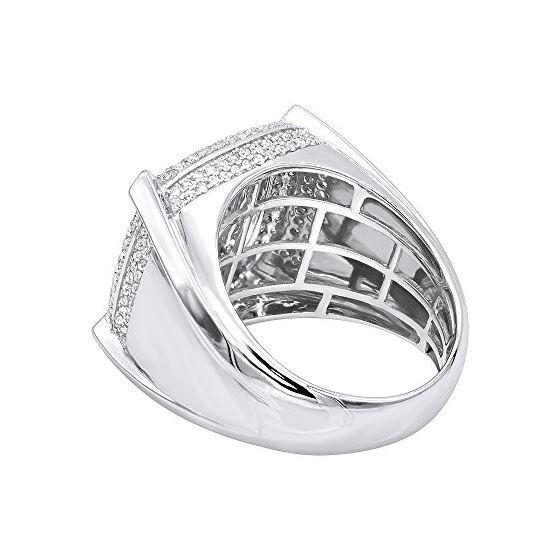 Mens Pinky Ring 10K Gold Diamond Ring 1.8Ctw (Wh-2