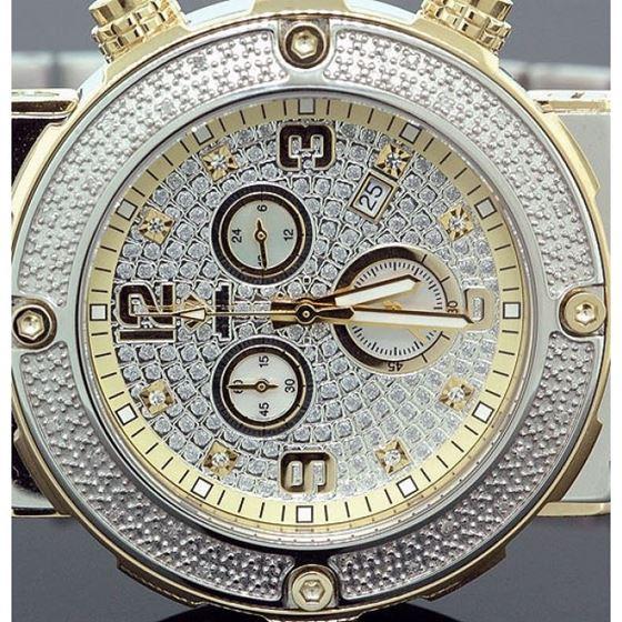 Aqua Master Mens Diamond Two Tone Watch 0.20ct w-146b 2