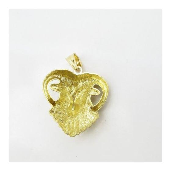 Mens 10k Yellow gold Goat head charm EGP23 4